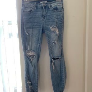 """Destroyed"" jeans"